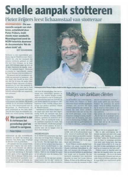 AD - 'Pieter Frijters leest lichaamstaal van stotteraar'