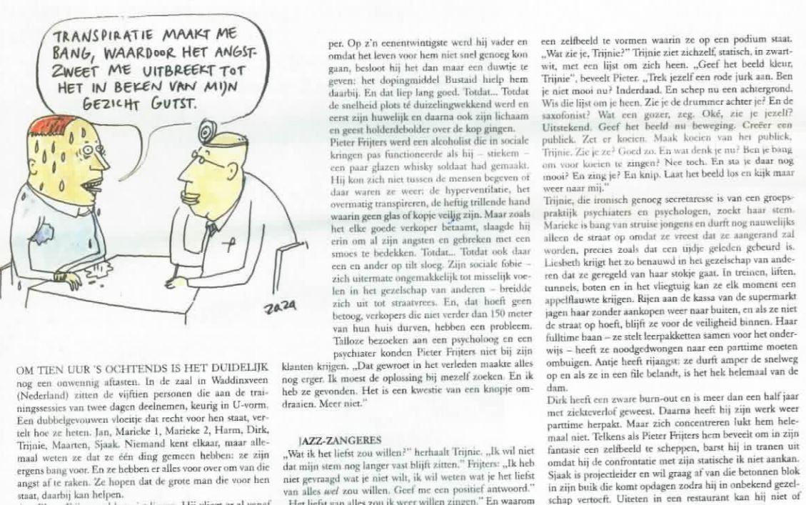 De Standaard over Pieter Frijters